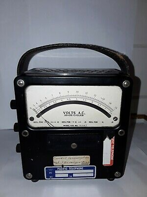 Weston Electrical Instruments, model 433, 25-125 cycles, AC Volt meter