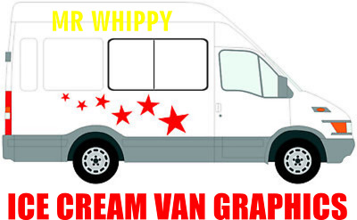 Ice Cream Van Sign Writing Graphics Sticker Kit