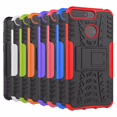 For Huawei Y6 2018 / Honor 7A Case Hybrid Tough Armor Kickstand Phone Cover