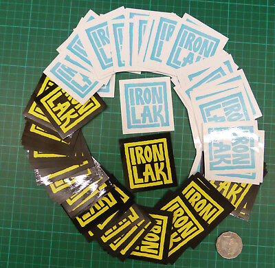 Bulk Lot Of 50 Ironlak - Aerosol Paint Graffiti  Stickers / Decals  - Box Logo