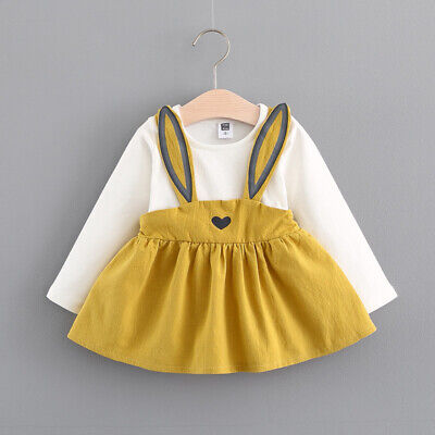 Toddler Baby Kids Girls Cute Long Sleeve Princess Wedding Party Gown Prom Dress