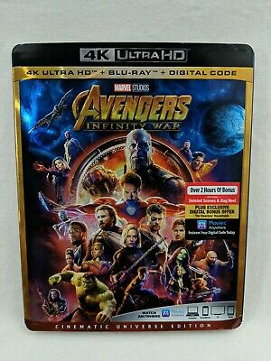 Avengers Infinity War 4K Ultra HD Blu Ray Digital Code Movie