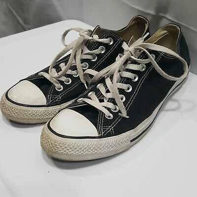 6ffaa5abf43c Converse Chuck Taylor All Star OX Shoes Sneakers M9166 Black White Sz 10M  12W