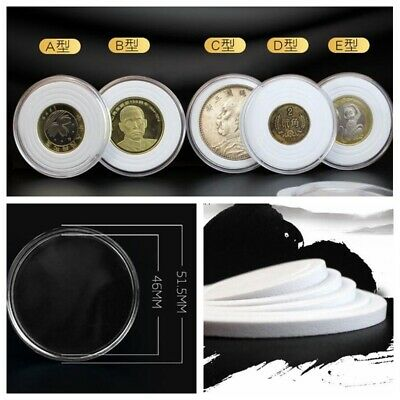 10 Coin Adjustable Ring Capsule Case For 17-41mm Cent Penny PENNIES Quarter