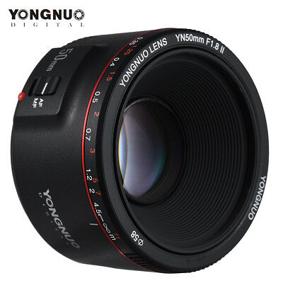 Updated Version Yongnuo YN 50mm F 1.8 II AF MF Prime Fixed Lens for Canon US