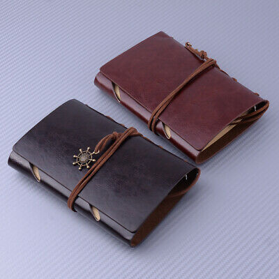 Vintage Style Retro Journal Travel Leather Cover Blank Note Book Diary Notepad