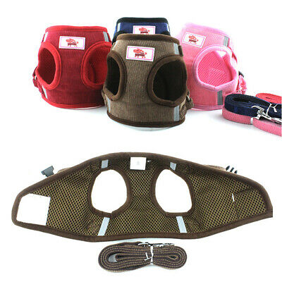 Soft Mesh Small Dog Harness Step-in Puppy Harness Leash Set Pet Jacket Vest EU
