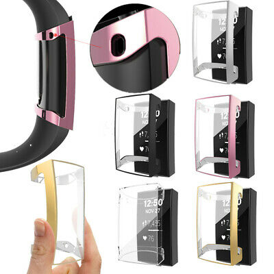 For Fitbit Charge3 Soft Case Cover TPU Full Screen Protector Case Multiple Color
