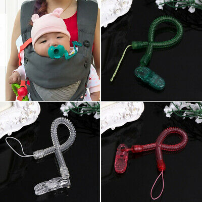 Baby Boy Girl Chain Clip Holders Dummy Pacifier Soother Nipple Leash Strap