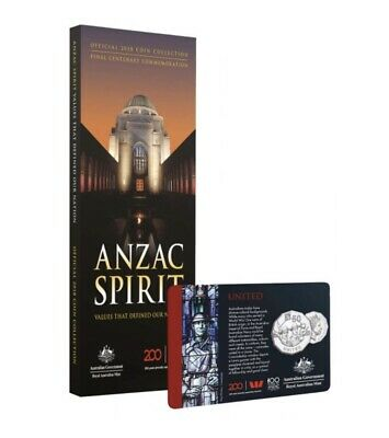 2018 Anzac Spirit Coin Collection Folder + United 50c Coin - New