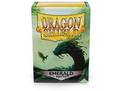Dragon Shield Emerald 100 Protective Sleeves Standard Card Holder Cases