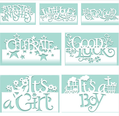Mixed Words Edge Cutting Dies Stencil Scrapbook Embossing Gift Card Craft Making