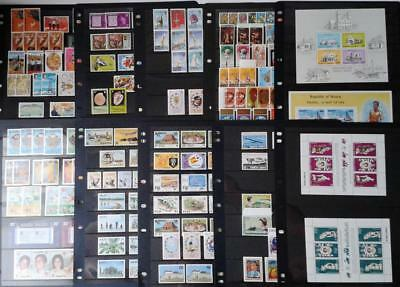 COLLECTION OF BRITISH COMMONWEALTH - MIXED LOT OF MINT STAMPS ON 10 x pages