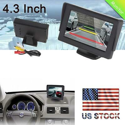 """4.3"""" TFT LCD Color Car Rearview Monitor for DVD GPS Reverse Backup Camera BW"""