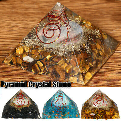 3 Colors EXTRA LARGE (70-75mm) Crystal ORGONE GEMSTONE PYRAMID Energy ORGONITE