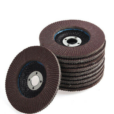 10x 4'' Flap Disc Grinding Sanding Angle Grinder Wheel Sand Paper Fit Wood Metal