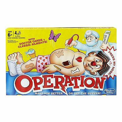 Operation Game Hasbro Gaming Doctor Cards Classic Ailments Toddlers Preschool