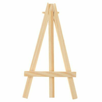 2 Pack Of Mini Wood Tabletop Art Craft Display Easels Natural Wooden Finish
