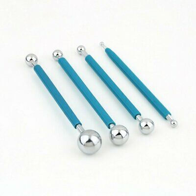 Metal Ball Stylus Clay Pottery Ceramics Doll Sculpting Modeling Tools 4 Pcs Set