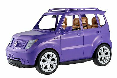 Barbie SUV Toy Car Vehicle Glam Design Purple Four Seats Belts Realistic Touch