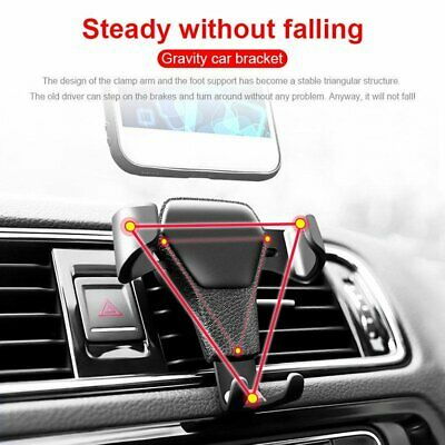 360° Universal Gravity Car Mount Air Vent Holder Stand For Cell Phone GPS E5