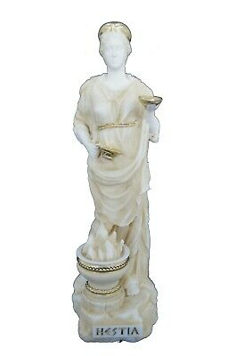 Hestia sculpture ancient Greek Goddess of the family active statue aged