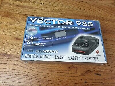 Beltronics Vector 985 Radar Detector Laser new sealed
