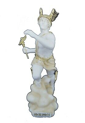 Hermes sculpture ancient Greek God conductor of souls active statue aged