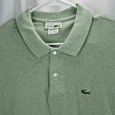 83a5410a Vintage Chemise Lacoste Shirt Mens Size 8 Green Short Sleeve Polo Cotton  France