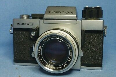 Topcon Super D type 71A camera with f1.8  58mm RE Auto-Topcor lens