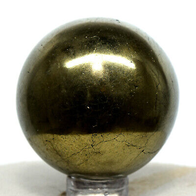 41mm Peruvian Chalcopyrite Sphere Golden Natural Mineral Polished Stone Ball