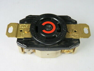 Hubbell HBL2710 Twist Lock Receptacle 30A 125/250V 4W 3-Pole  USED
