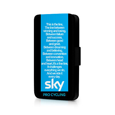 Sky Pro Cycling Quote Phone Flip Case