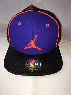 0b9648c9bbb NEW Nike Air Jordan Jumpman Snapback Hat Black Purple Orange 612787-012