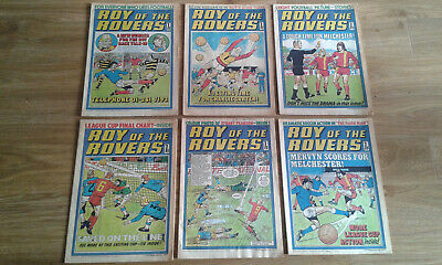 Vintage 1977 Roy Of The Rovers Magazines X6 Job Lot