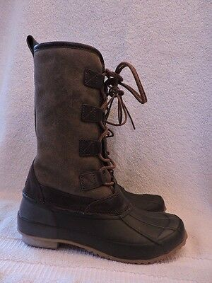 4d3436d1d44 New  398 Tory Burch Argyll Shearling Rain Winter Snow Boot Lace Up 6 Olive
