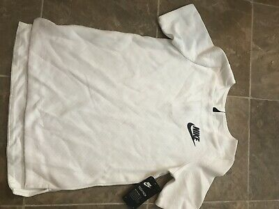Nike Girls Tech Pack Sportswear NSW Fleece Top White Black NWT MSRP $75 Girls M