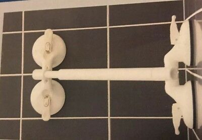 Mobeli Easy Install Grab Bars Suction Cup Safety Shower Aids