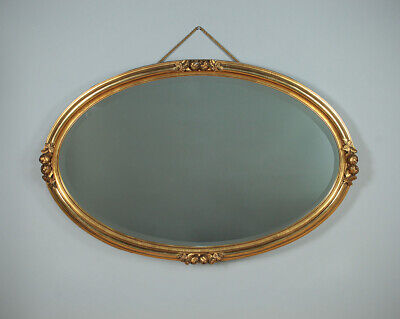 Antique Oval Gilded Wall Mirror c.1910.