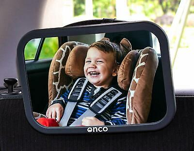 Baby Car Safety Rear View Mirror Head Rest Visible Adjustable Wide Angle Onco