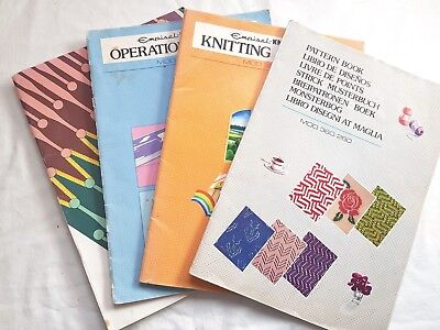 Bk110 Silver Reed Knitting Machine Mod360 Srp50 Operation & Pattern Manuals  X4