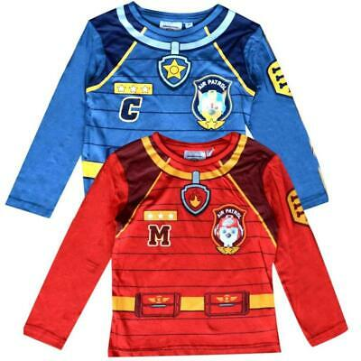 Boys Girls 2 Pack Genuine Official PAW Patrol T-Shirt Character Short Sleeve Top