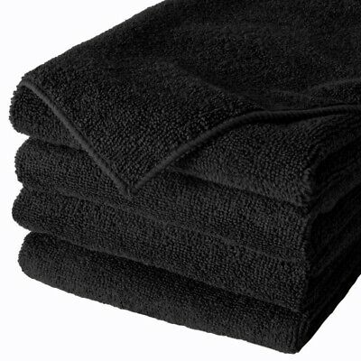 Hairdresser Hand Towels Salons Spa Towels Black Pack 3, 6, 12,  24