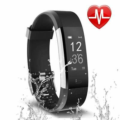 Fitness Tracker Watch Heart Rate Activity Monitor Smart Bracelet Calorie Counter