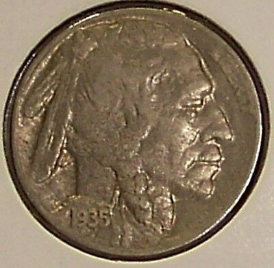 1935-D Buffalo (Indian Head) Nickel in Extra Fine (EF or XF) Condition (Coin #2)