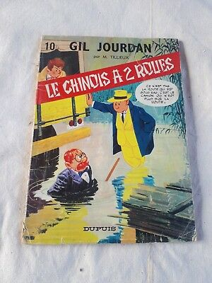 BD Gil Jourdan Tome 10 Le chinois à 2 roues EO 1967