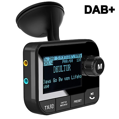 Blufree In Car DAB+ Digital Radio Adapter FM Transmitter, Bluetooth Receiver Car