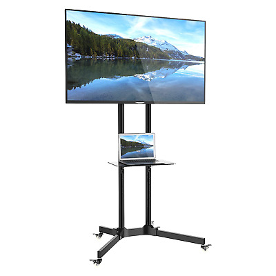 """1home Mobile TV Trolley Stand Mount Cart Exhibition Display for 30""""-65"""""""