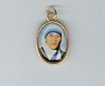 Religious medal of Saint Teresa of Calcutta patron of World Youth Day
