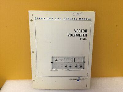 HP / Agilent 08405-90022 8405A Vector Voltmeter Operating + Service Manual